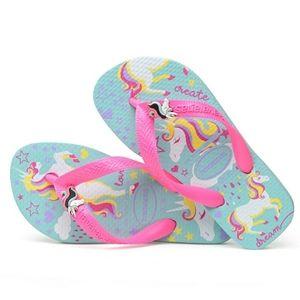 Havaianas kids fantasy unicorn flip flops - 10c
